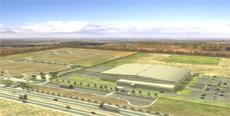 メキシコ工場の完成予想図