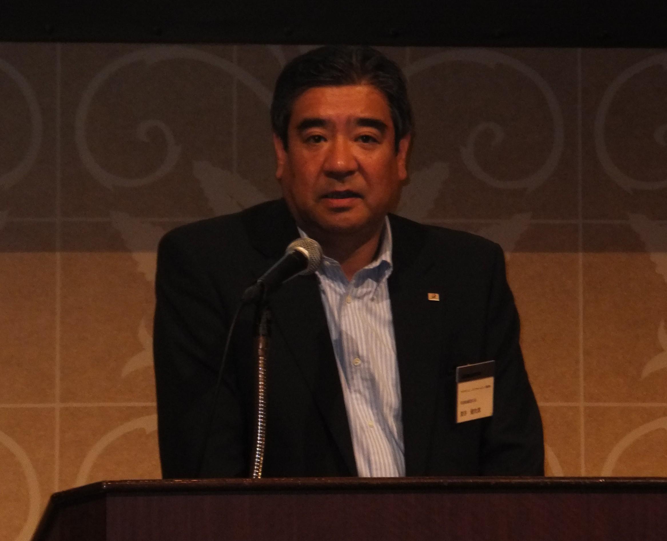 深谷社長の開会の挨拶