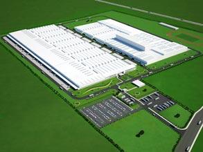 ブラジル工場完成予想図