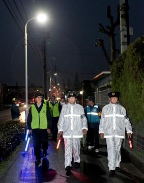 「清須市へLED防犯灯を寄贈」