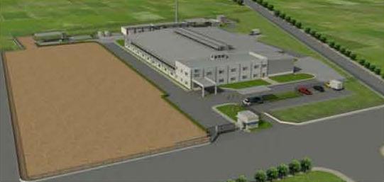 デリー近郊新工場の完成予想イメージ