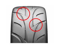 リブの間に3D化した見え隠れする溝(ステルスグルーブ)を配置、トレッドセンター~ショルダー部の剛性分布を最適化。