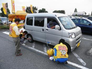 タイヤ点検活動(2011年)