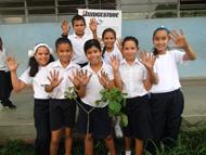 ベネズエラ 植樹活動の様子