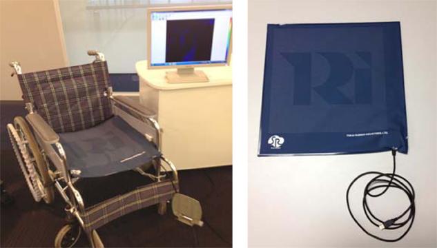 (左)車椅子での活用例 (右)SR ソフトビジョン