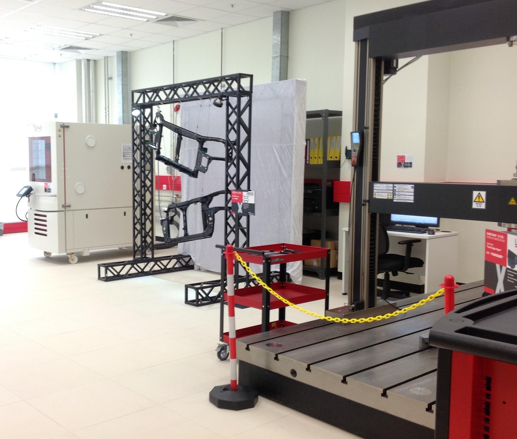 公開された用途開発センター内のテストラボ