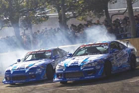 「Team TOYO TIRES DRIFT」(2013年Kick Off Drift走行画像)