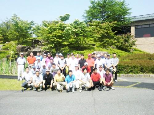 ラウンド前の参加者記念写真