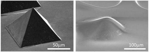 プレス成形加工した単層CNT/ゴム複合材料と従来ゴム表面の比較