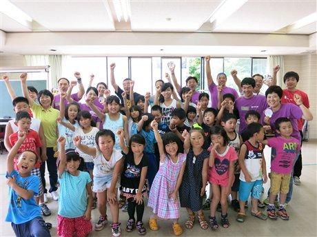 山田南小学童のみなさんとSCJのスタッフのみなさん、エボニックグループ社員