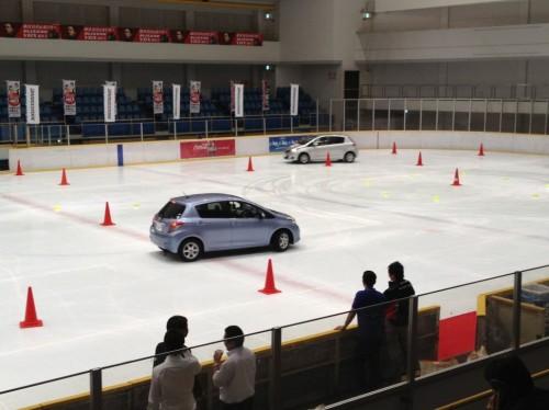 VRXを装着した自動車の体感試乗も行われた
