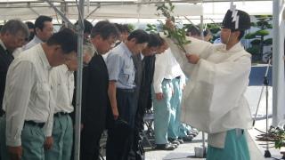 安全祈念式の様子
