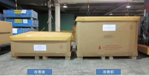 輸入品梱包資材の段ボールパレティーナ