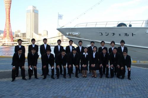 神戸クルーザーで内定者の集合写真