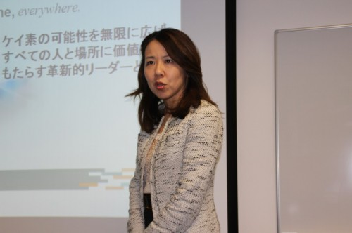 講演する桜井恵理子代表取締役会長兼CEO