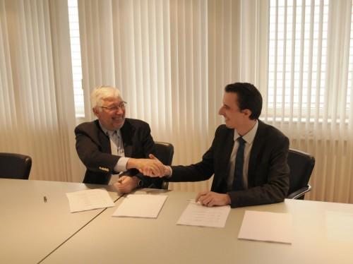 CSMインスツルメンツ元CEOのジャック・フランソワーズ氏と、アントンパールのヤコブ・ザントナー氏