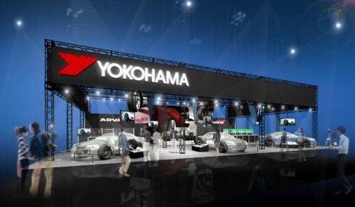 横浜ゴムブース(タイヤ)のイメージ図