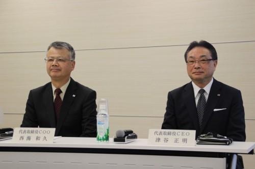 津谷CEO(右)と西海COO