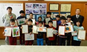表彰の様子(波立小学校)