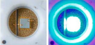 開発した低温焼成型銀ナノ粒子接合剤を用いたLEDパッケージ