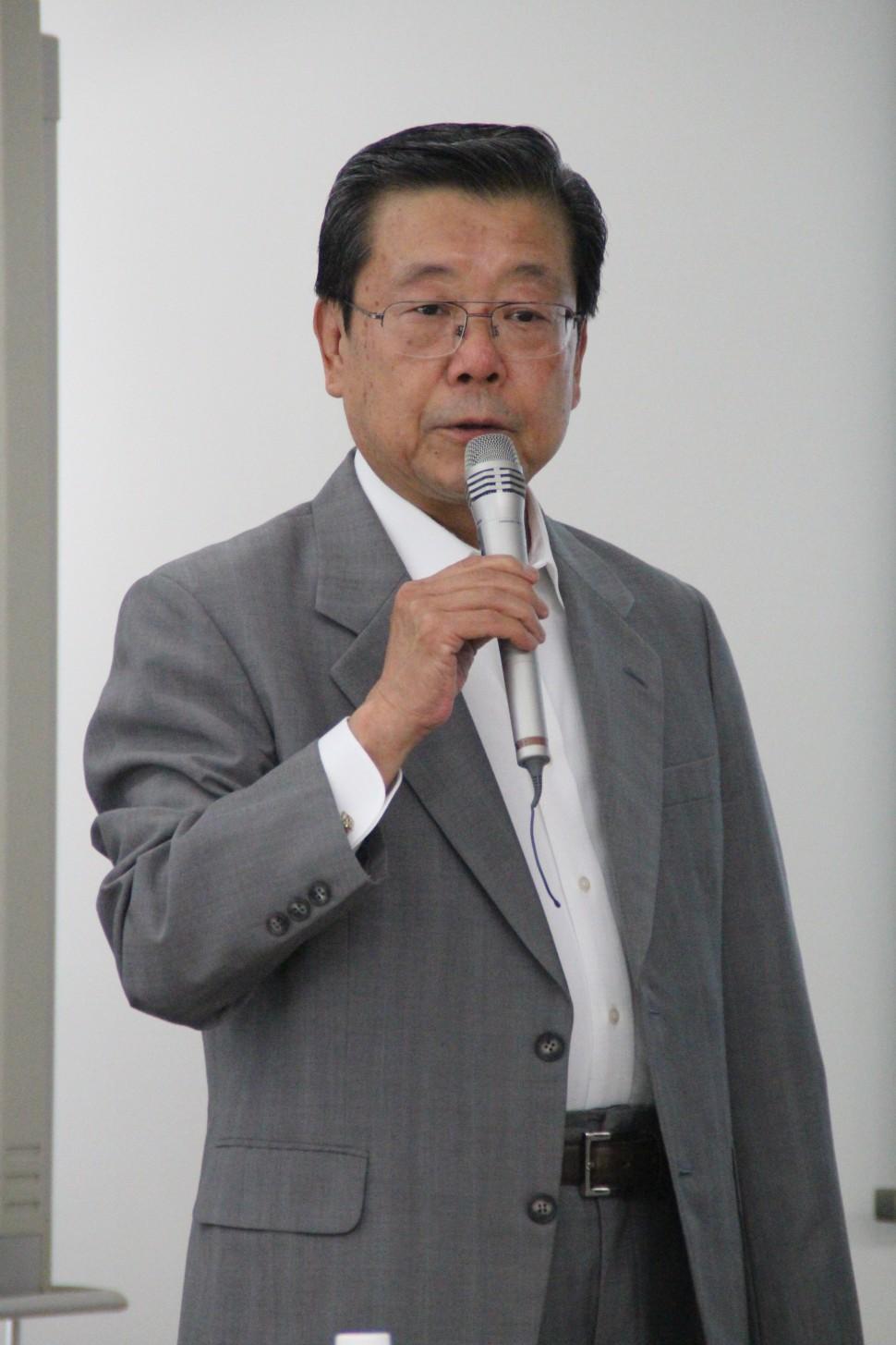 あいさつを行う関田隆一取締役専務執行役員CTO