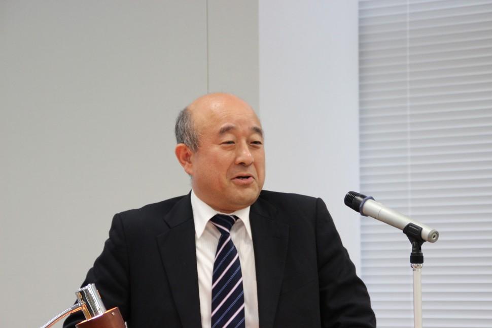 説明する神田隆生代表取締役社長