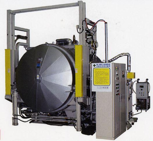 共同開発した加圧型マイクロ波加熱装置