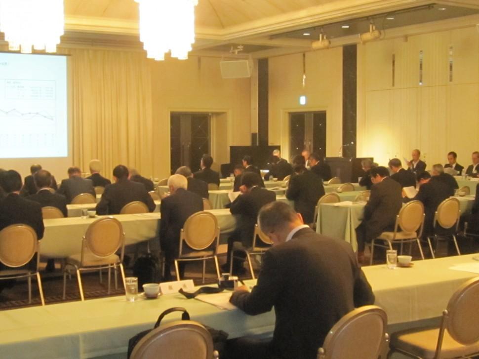 日本ゴム工業会第3回幹事会会場