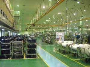 第1工場、太陽工法で生産