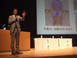 転倒災害防止をテーマに発表を行う川越衛生管理者