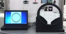 SR技術を応用した開発中のステアリングデモ