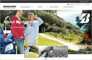リニューアルしたグローバルウェブサイトの画面