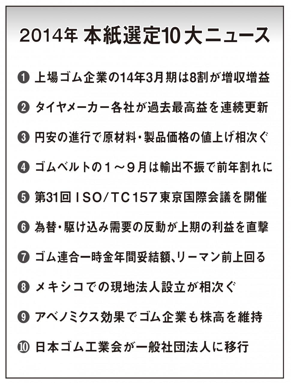 2014年本紙選定10大ニュース