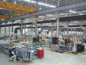 新工場内部の様子(組立棟)