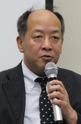 決算説明を行う平野勇人上席執行役員