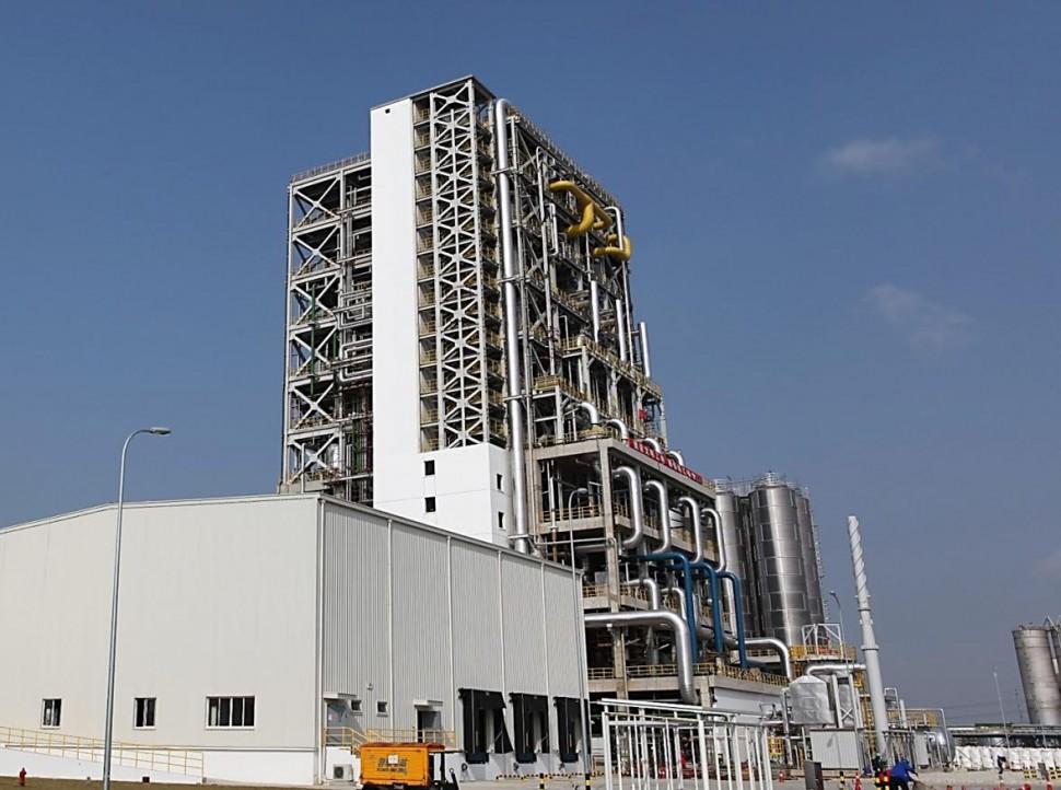 中国・上海の上海化学工業区内に開設したウルトラミド重合工場
