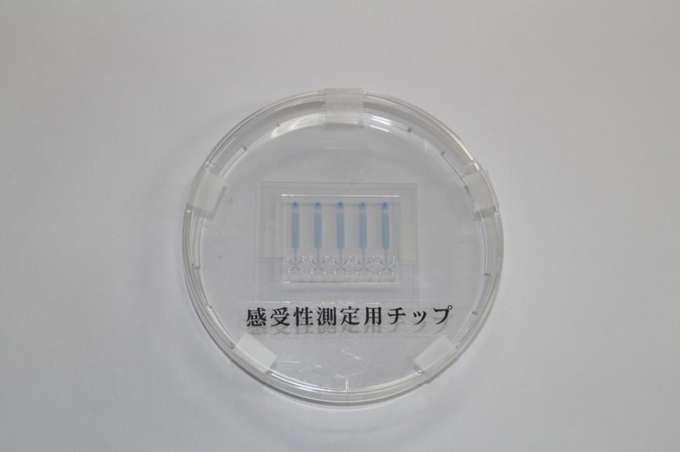 フコクが開発したマイクロ流体チップ