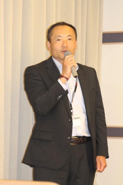 「全ての性能で従来品を上回った」と話す池田均広報部長
