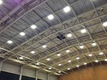 LED高天井照明設置状況