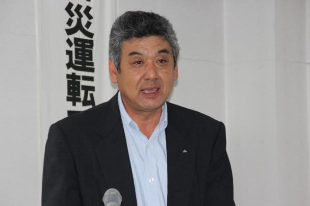 「200キロの軽量化が可能となった」と話すアルプス運輸建設の上嶋金司社長
