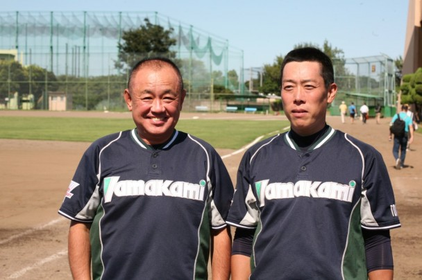 山上社長とMVPの木野村投手