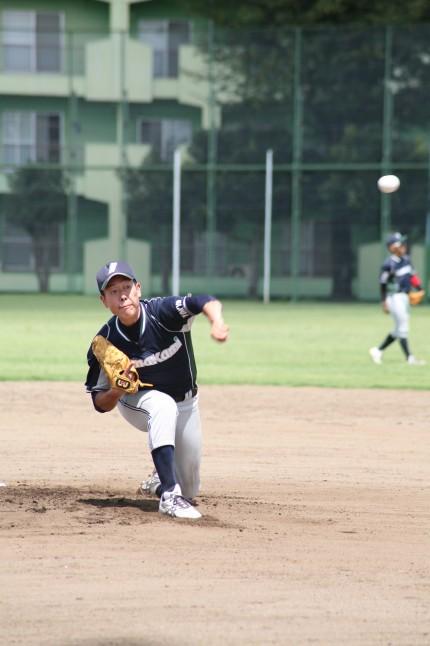 完全試合を達成した木野村投手