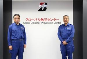 開所式の様子(左から津谷正明代表取締役CEO、石橋秀一専務執行役員グループ・グローバルCQMO ・CSR管掌)