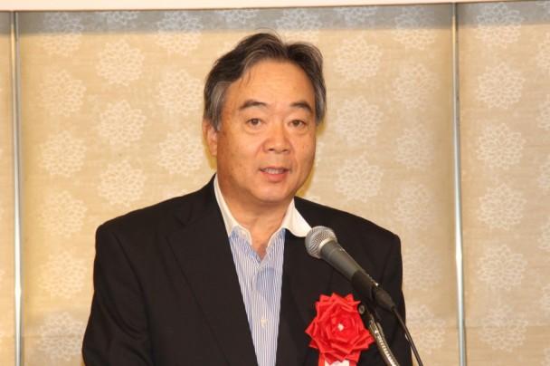 九州の先端産業について講演する杉山次長