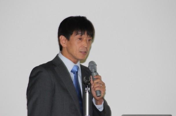 モンテック製品を解説するアイ・っティーエス・ジャパンの池永氏