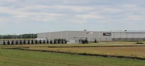 新工場は500エーカーを越える土地に建設された