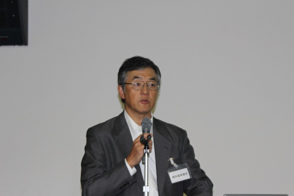 VRG社の概要を解説する加藤社長