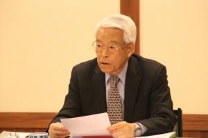 3つの目標達成に向けて述べる野田会長