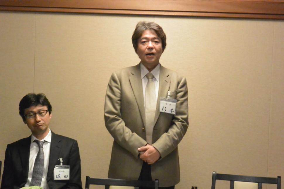 九州ゴム工業会との意見交換会について述べる杉本会長