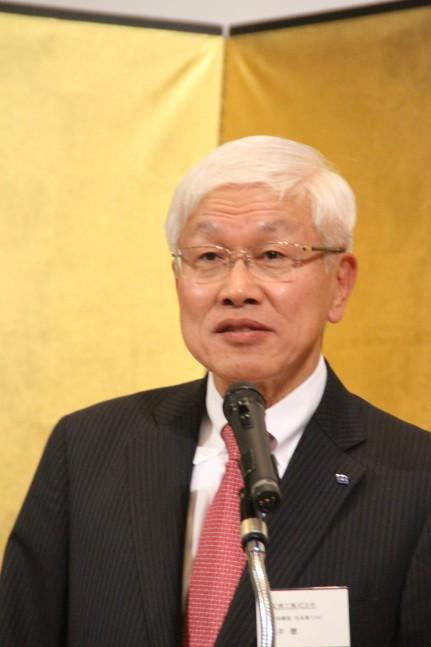 真のグローバル企業を目指すと語る松井社長